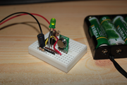555 timer radio beacon